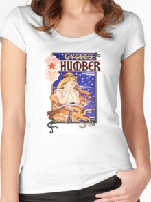 Humber Cycles 1890s Vintage Advertising Poster Women's Fitted Scoop T-Shirt