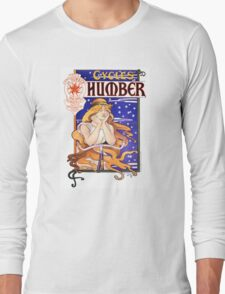 Humber Cycles 1890s Vintage Advertising Poster Long Sleeve T-Shirt