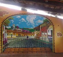 "MURAL ""MAGIC TOWN"" by Ehivar Flores Herrera"