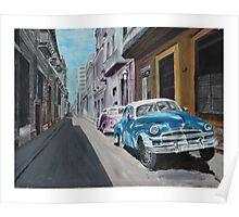Cuban street scene (Havana) Poster