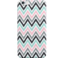 Pink and Mint Ikat Chevrons iPhone Case/Skin