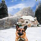 Finish Holiday German Shepherd and puppy by Eric Kempson