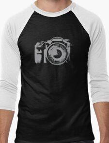 Fast Shooting Camera Men's Baseball ¾ T-Shirt