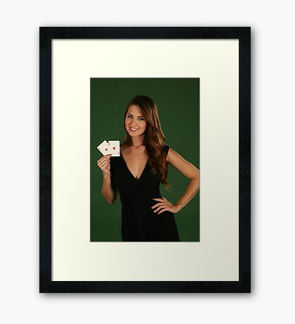 Chrissy 1425 Aces Red Framed Print