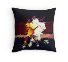 091911 111 0 water color soccer lomo 6 expressionist Throw Pillow