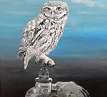 Danish Christmas Little Owl by Eric Kempson