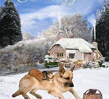 Danish German Shepherd Holiday by Eric Kempson