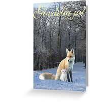 Danish Winter Fox  Greeting Card