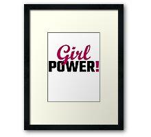 Girl Power! Framed Print