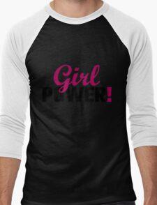 Girl Power! Men's Baseball ¾ T-Shirt