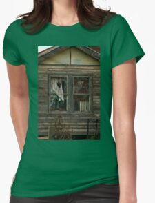 0407 Neglected Old Window Womens Fitted T-Shirt