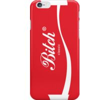 Bitch classic red logo iPhone Case/Skin