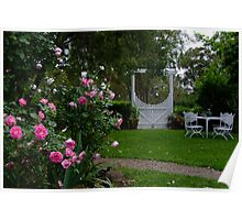Country Cottage Garden Poster