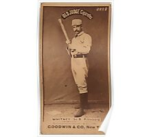 Benjamin K Edwards Collection Art Whitney Pittsburgh Alleghenys baseball card portrait Poster