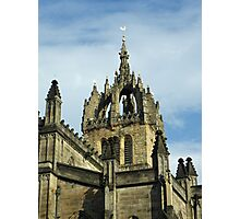St Gile's Cathedral Crown Spire, Edinburgh Photographic Print