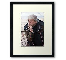 Middle-aged man at the sea. Framed Print