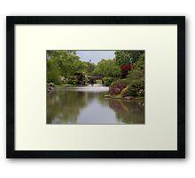 Shimmering Water in a Japanese Garden Framed Print