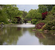 Shimmering Water in a Japanese Garden Photographic Print