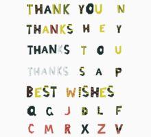 Thank you stickers + Alphabet by Anastasiia Kucherenko