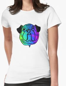 Psychedelic Pug Dog Womens Fitted T-Shirt