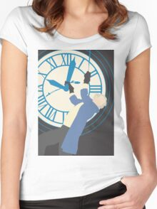 Back to the Future poster Women's Fitted Scoop T-Shirt