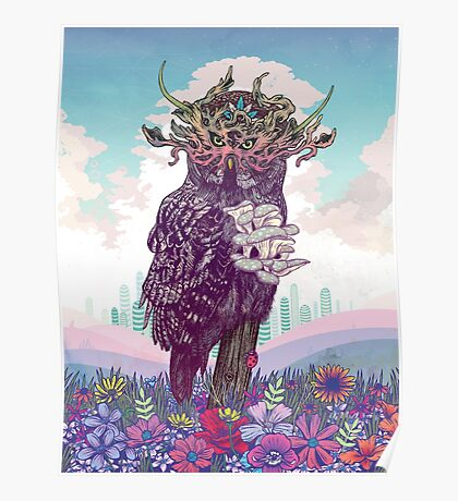 Journeying Spirit (Owl) Poster