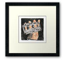 Crayon Priest Framed Print