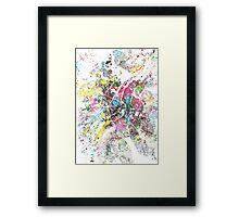 Brussels map splash painting Framed Print