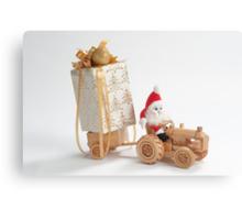 Christmas driver Canvas Print