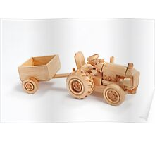 Wooden tractor Poster
