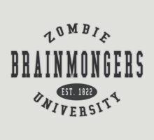 Zombie U Brainmongers Dark Letter Jersey by Kyle Gentry