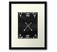 White arrows Framed Print
