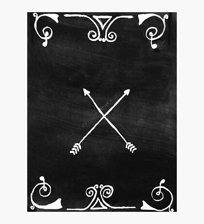 White arrows Photographic Print