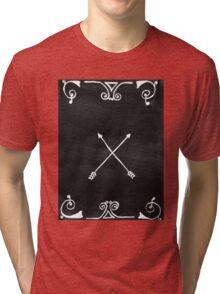 White arrows Tri-blend T-Shirt