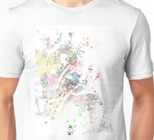 Copenhagen map splash map Unisex T-Shirt