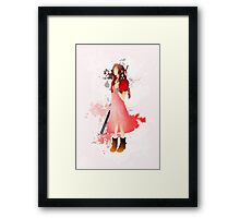 Final Fantasy 7: Aerith Gainsborough Giclee Art Print Framed Print