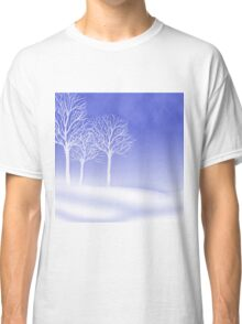 Woodland in Winter Scene Classic T-Shirt