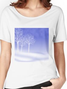 Woodland in Winter Scene Women's Relaxed Fit T-Shirt