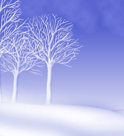 Woodland in Winter Scene Sticker