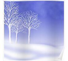 Woodland in Winter Scene Poster