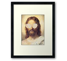 Cool Jesus Street Art Framed Print
