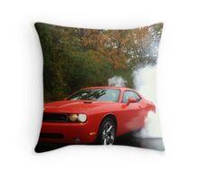 2010 Dodge Challenger R/T Burnout Throw Pillow