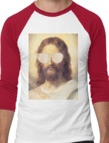 Cool Jesus Street Art Men's Baseball ¾ T-Shirt