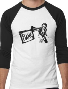 "Dirty Harry ""BANG!"" Street Art Men's Baseball ¾ T-Shirt"