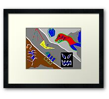 This work is called 'Collage' Framed Print