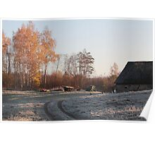 First frost in rural place Poster