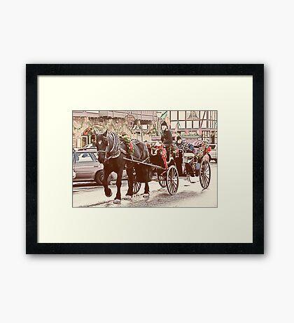 Horse-drawn Ride Framed Print