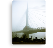 Foggy Waterfront 10 Canvas Print