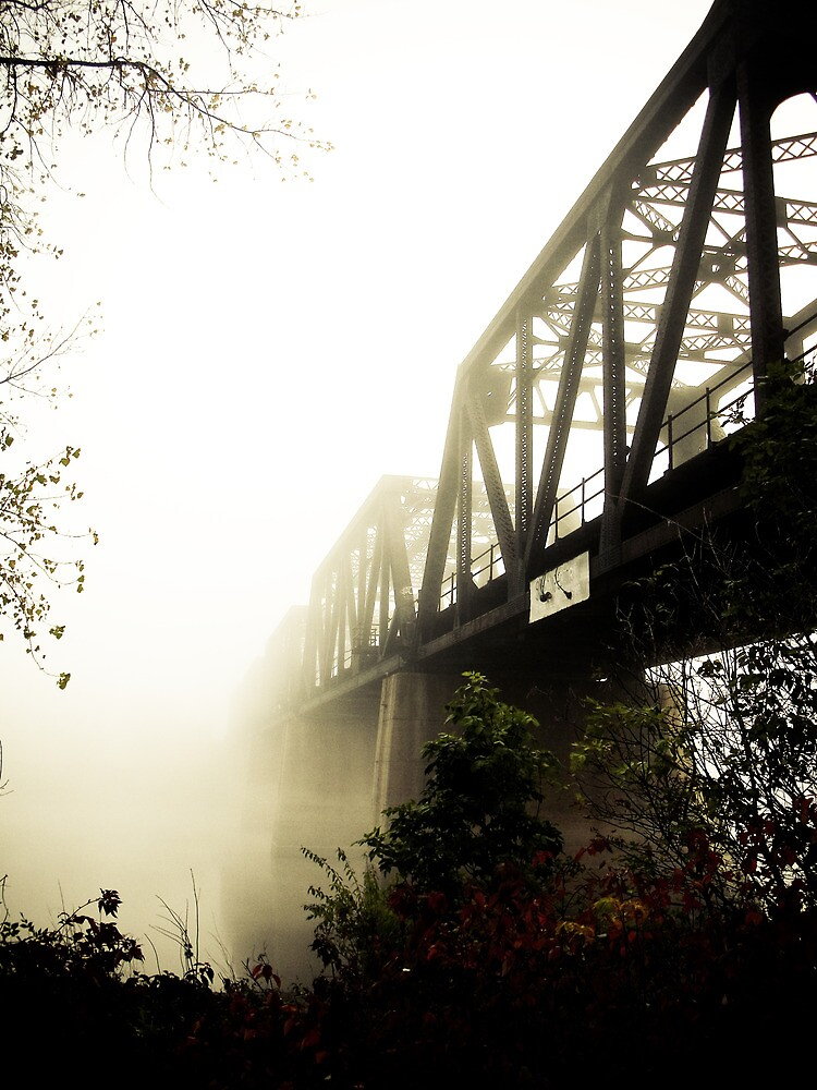 Foggy Waterfront 13 by mdkgraphics