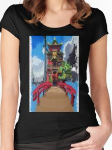 Spirit bathhouse  Women's Fitted Scoop T-Shirt